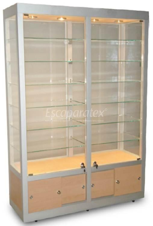 Vitrina alta de pared doble vitrinas mostradores - Vitrinas de pared para colecciones ...