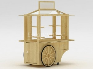 Carretas para florerias en centros comerciales vitrinas for Disenos de kioscos de madera