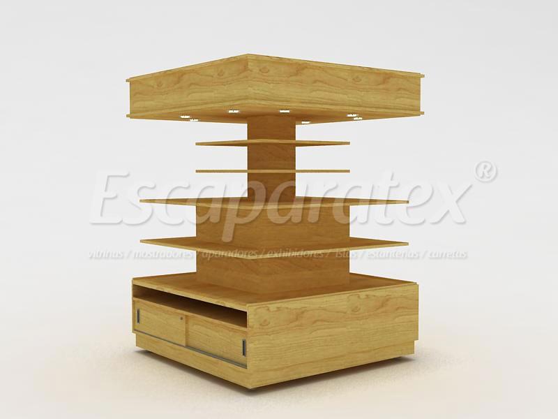 Vitrinas mostradores aparadores exhibidores for Como hacer un kiosco de madera